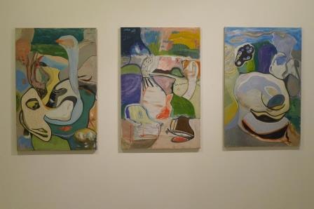 Impressie van een expositie in galerie KUR in San Sebastián.