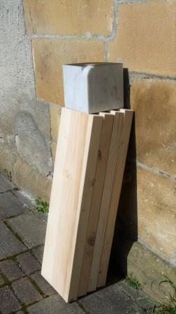 Model voorafgaand aan de uiteindelijke constructie van een vorm.
