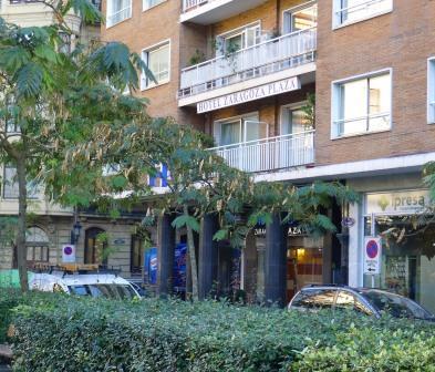 Een van de hotels in San Sebastián, dichtbij station, strand en centrum.