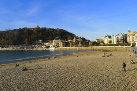 La Concha, een van de 3 prachtige stranden in San Sebastián.