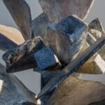 Detail van sculptuur Xander Spronken.
